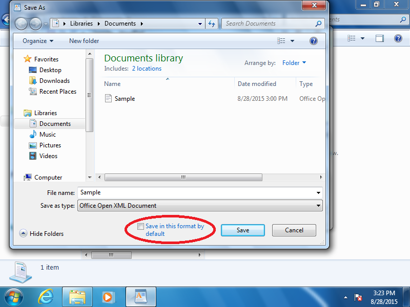 How to use wordpad for docx documents in windows 7 - Office open xml format or open document format ...