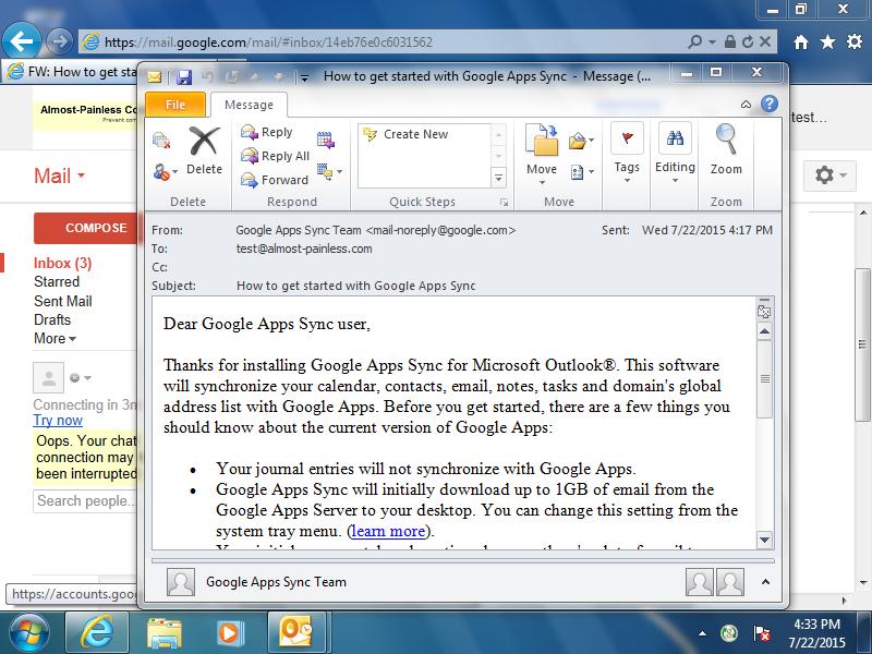 open in gmail