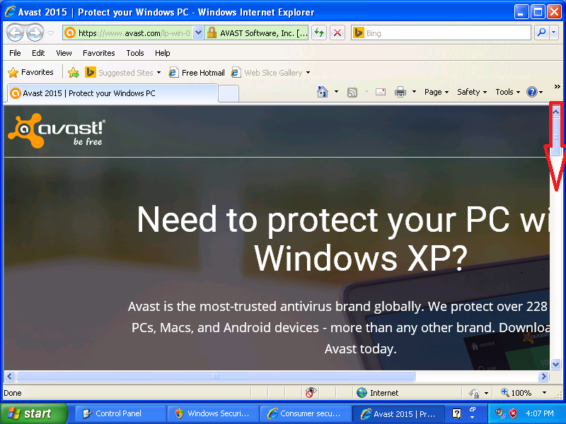 avast for xp